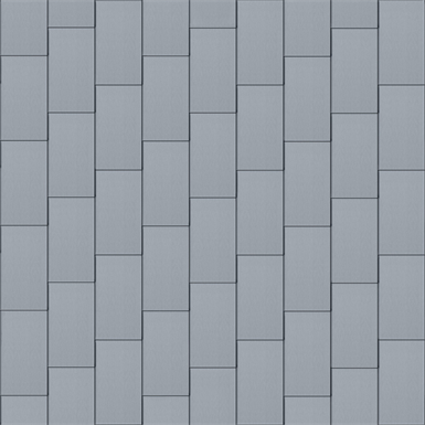 flat-lock tile roof (500 mm x 1000 mm, vertical, prepatina blue-grey)