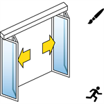 Automatisk foldedør FFM