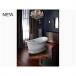 """artifacts® 66"""" x 33"""" freestanding bath with white exterior"""