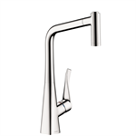Metris Single lever kitchen mixer 320 with pull-out spray 14820001