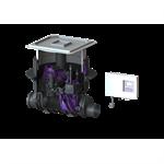 kessel-backwater pumping station 24100x pumpfix f komfort ø 110, recessed cover
