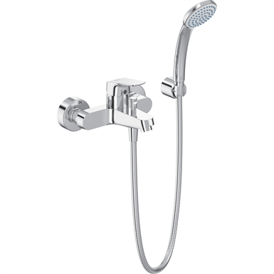 ceraflex - bath shower mixer exposed chrome & kit
