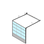 sectional overhead door 601 - low lift - full vision panels