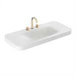 ARMANI - BAIA 1100 mm countertop washbasin for 3-holes basin mixer