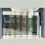 automatic sliding door, all glass esa500 showcase