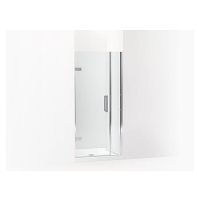 """Composed® Frameless pivot shower door, 71-9/16"""" H x 33-5/8 - 34-3/8"""" W, with 3/8"""" thick Crystal Clear glass"""