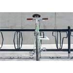 DELTA Bicycle Rack left 45° single sided 2,5m CC500mm 5 bicycles