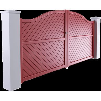 portail ligne intimité modèle solunto 2 vantaux