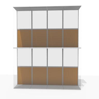 Aluminum double skin facade - 50 % to 75 % transparent
