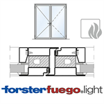 Door Forster fuego light EI30, double leaf
