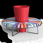 bancs publics - banquette circulaire pastel