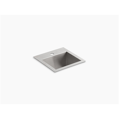 """vault™ 15"""" x 15"""" x 9-5/16"""" top-/under-mount bar sink with single faucet hole"""
