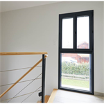double pvc casement window on fixed pane