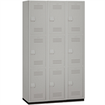 15-43000 Series Heavy Duty Plastic Lockers - Triple Tier - 3 Wide