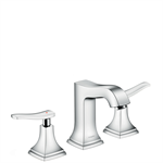 Metropol Classic 3-hole basin mixer 110 with lever handles and pop-up waste set 31330000