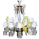 zenith sur la lagune chandelier with acid yellow deers 15l