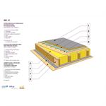 toiture terrasse avec remplissage en bottes de paille et platelage ventilé