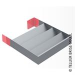 sunbreaker between consoles horizontal installation - recti'ligne range