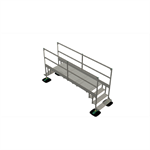 bridge 2 step  with railing 3mtr 1000x1000x3000 | yeti rooftop walkway and stepover