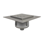 BFD-560 - Sanitary Floor Drain w/12in. x 12in. Square Top, Elastomeric Flange