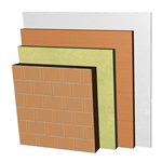 ME02-B1-bgf Double skin clay block party wall, with thermal insulation. BC14+AT+LHGF7+ENL
