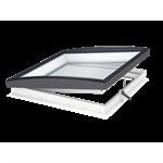 electrically vented glass rooflight w. curved glass cvu isu1093