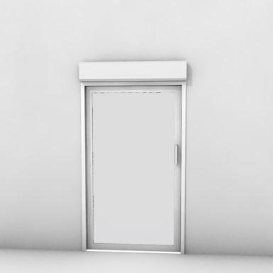 Single pocket door with shutter