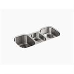 """undertone® 41-5/8"""" x 20-1/8"""" x 9-1/2"""" under-mount triple-bowl kitchen sink"""
