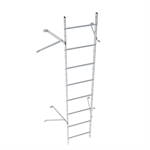 Wall ladder system with 450 offset