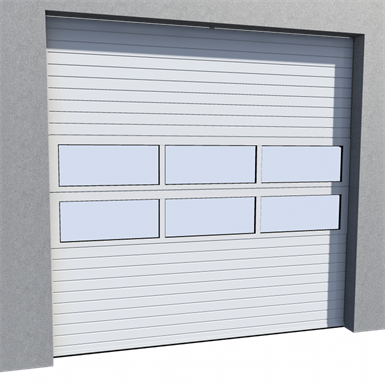 industrial door mix infill normal lift in slope