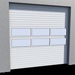 industrial door mix infill normal lift in slope