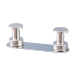2 towel hook rack Nickel