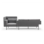 Varilounge Low, sofa 2-seater, easy chair left