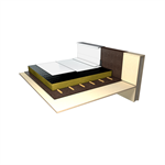 ecological, vegetal oil-based, waterproofing system for inaccessible flat roofs