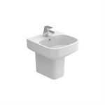 BE YOU 400 wall-mounted washbasin (w/ central tap hole)