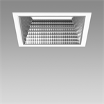 echo square led recessed downlight 3000k l190 mm