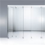 horizontal sliding wall system - hsw gp stacking single-side