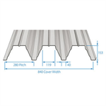 RoofDek D153 (Deep Deck) - Structural decking for roofs
