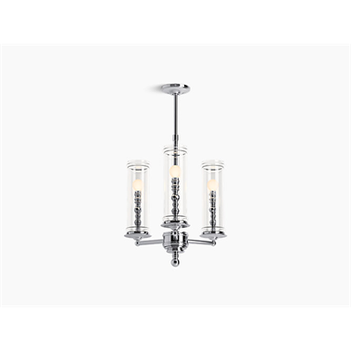 damask™ three-light chandelier