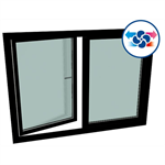 gealan caire® smart (flush-mounted) - s9000 double-vent window