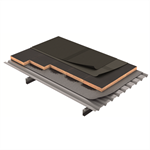 deck roof with bitumen waterproofing membrane (es)