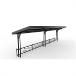KAPPA Cycle Shelter 16,5m 32 bicycles -Sedum roof