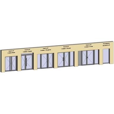 grand trafic doors - anti finger pinch version - double inward opening - showcase
