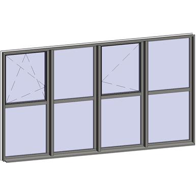 multi-paned windows - 8 compound zones