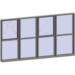 multi-paned windows - 8 compound zones