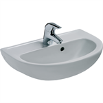 eurovit handrinse washbasin 500x350mm, 1 taphole, with overflow