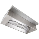 Wall Canopy Exhaust Hood with Perforated Supply Plenum, ND-2 Series