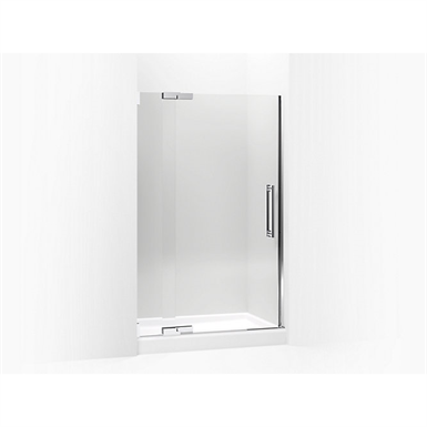 """purist® pivot shower door, 72-1/4"""" h x 45-1/4 - 47-3/4"""" w, with 3/8"""" thick crystal clear glass"""