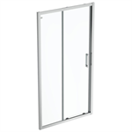 connect 2 slider door 110 clear glass bright silver finish