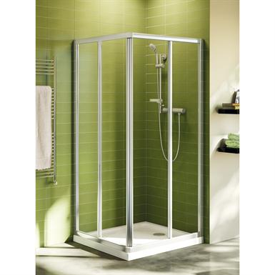 connect porte de douche 90 cm verre transparent